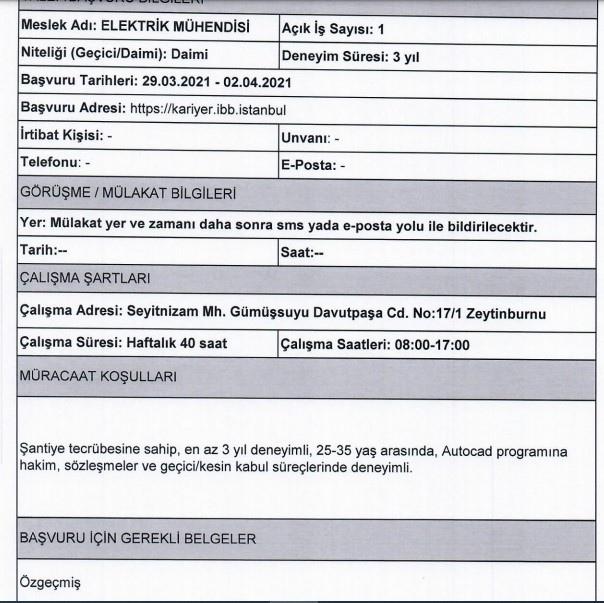 KİPTAŞ Personel Alımı 2021 -Başvuru Sayfası